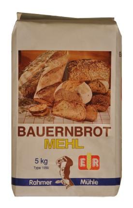 Mehl für Bauernbrot in der 5 kg Packung bei Rahmer Mühle.