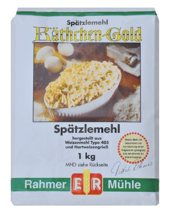 Spätzlemehl kaufen: spezielles Mehl für Spätzle in der 1 kg Packung.