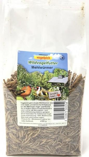 Vogelpick Wildvogelfutter Mehlwürmer 300 g