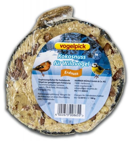 Vogelpick Kokosnuss halb Erdnuss