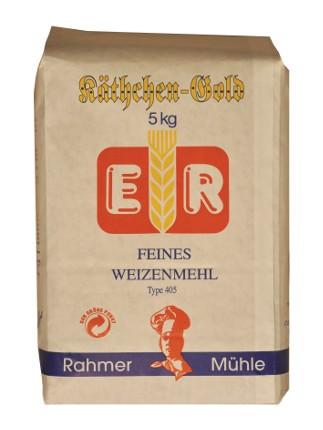 Weizenmehl Type 405: besonders fein bei Rahmer Mühle zu kaufen.