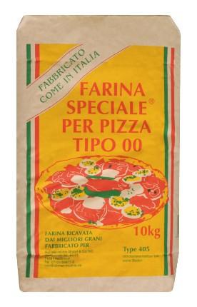 Pizzamehl kaufen: Type 405 in der 10 kg Packung von Rahmer Mühle.
