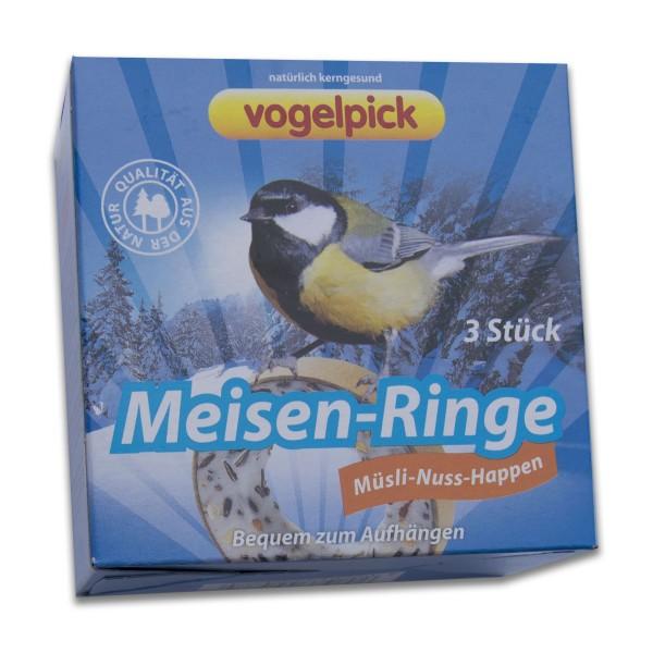 Vogelpick Meisenringe Müsli-Nuss Happen 3er 150g