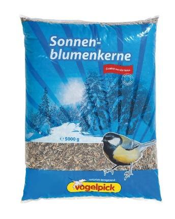 Sonnenblumenkerne in der 5 kg Packung zu kaufen von der Marke Vogelpick.