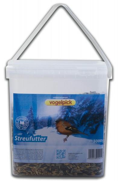 Streufutter für Vögel im 3 kg Eimer.