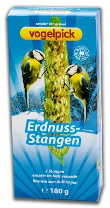 Erdnuss-Stangen für Wildvögel von der Marke Vogelpick.