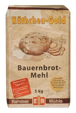 Mehl für Bauernbrot in der 5 kg Packung online zu kaufen.